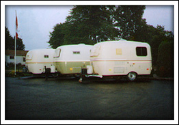 Three Fibreglass RVs